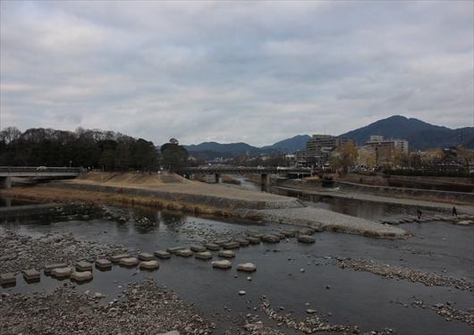 出町柳駅から望む比叡山