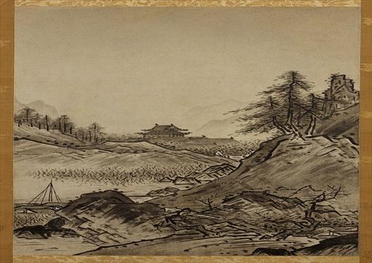 雪舟の水墨画