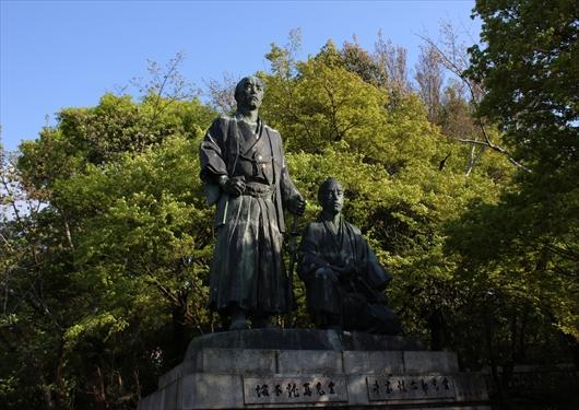 円山公園坂本龍馬像
