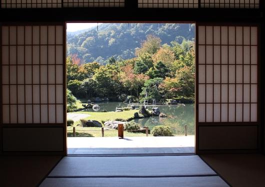 天龍寺小方丈から庭園