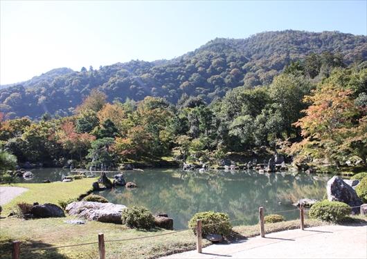 天龍寺庭園と嵐山