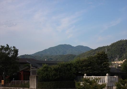 京都市内から見える比叡山