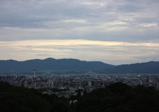 清水寺から眺める京都市内