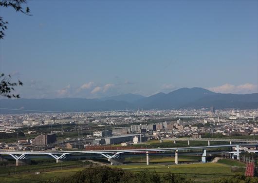 石清水八幡宮から京都市内を展望