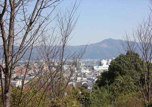 建勲神社から見える東山大文字