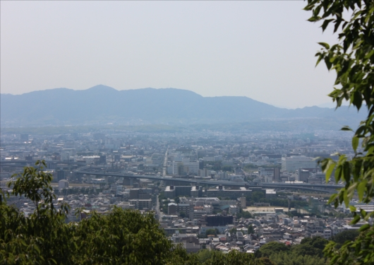 伏見稲荷大社頂上付近景色