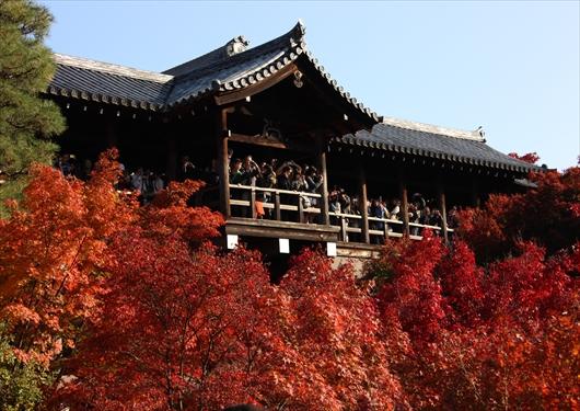 東福寺通天橋の混雑状況
