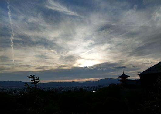 奥の院から京都市街地