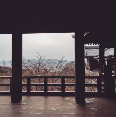 清水寺本堂から京都タワー