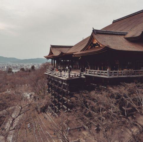 修理完了後の清水寺本堂