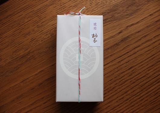 琥珀柚子の包装
