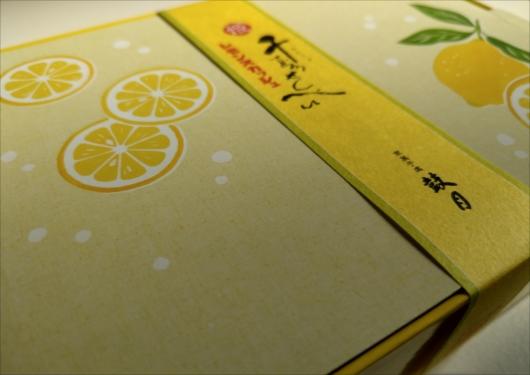 鼓月千寿せんべいレモンスカッシュ味
