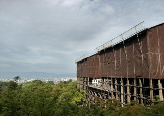 清水寺本堂修復中