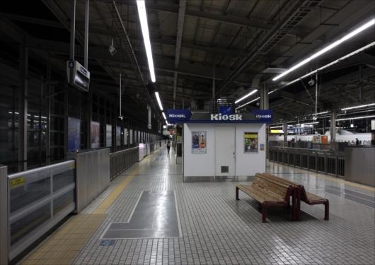 終電間近の京都駅