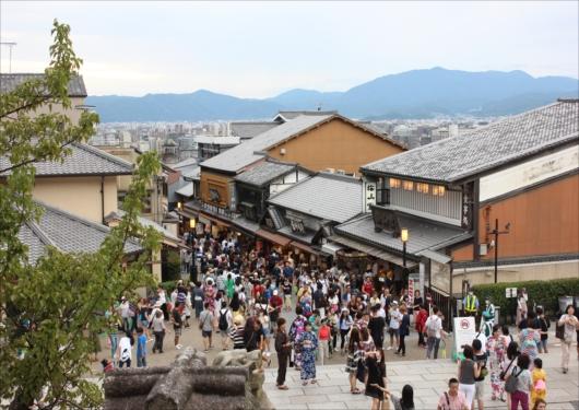 清水寺前の混雑