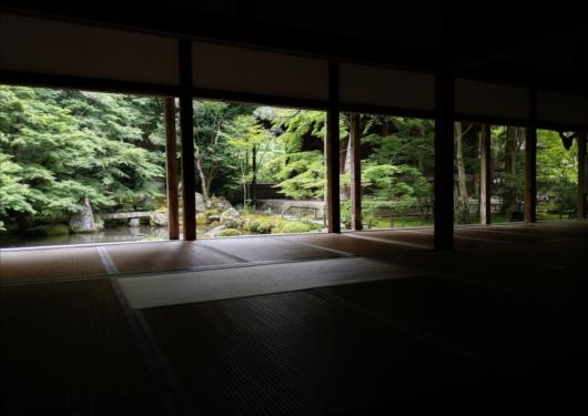 蓮華寺空いてる庭園
