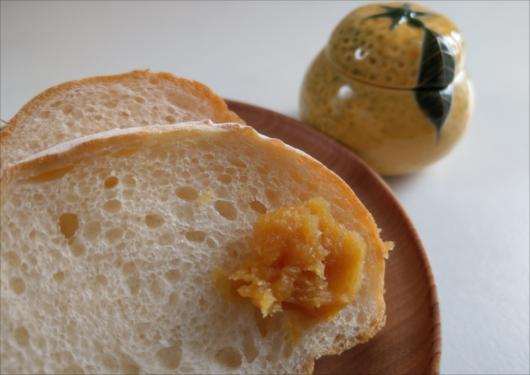 フランスパンと八百三の柚子味噌